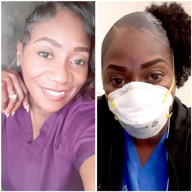 Crystel Smith, nursing assistant. Traveled from Houston to New Jersey to help fight pandemic