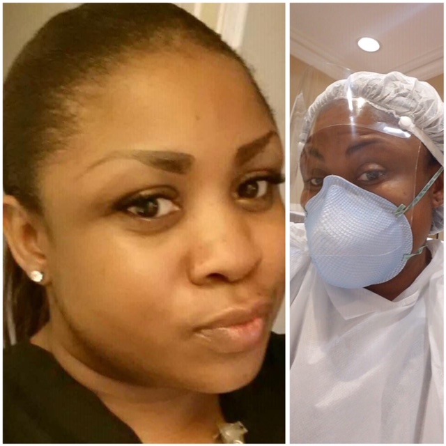 """Erica Parker, RN: Traveled from Houston to New York to take care of patients. """"I don't quit when I'm tired, I quit when I'm done."""""""