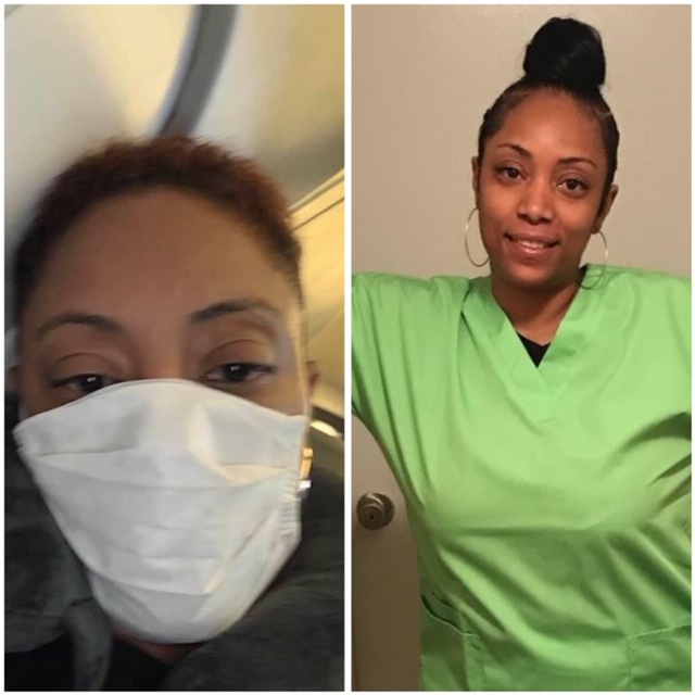 Qween Brown, CNA: Traveled from Houston to Iowa to assist patients at nursing home
