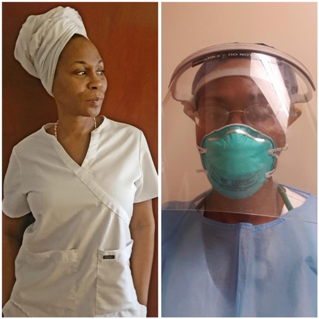 """Rochelle Walker, RN: Traveled from Houston to California to take care of COVID-19 patients. """"People don't realize we have viral pandemics every year. I take care of these patients the same as I would if they had TB, flu, MRSA, C Diff, or any other infectious disease. It's what I signed up for as a nurse. """""""