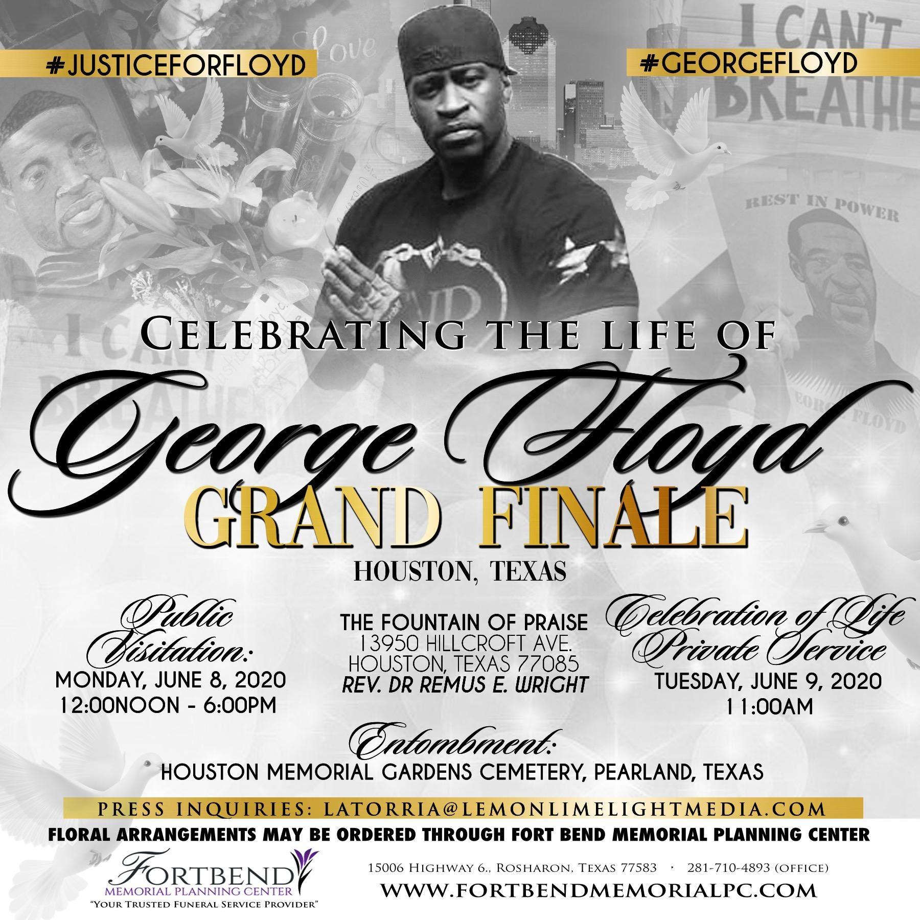 Details On The Celebration Of Life In Houston For George Floyd Afram News